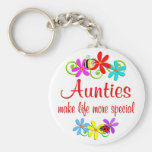 Special Auntie Basic Round Button Key Ring