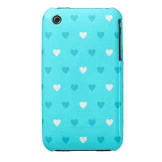 Special Blue Heart Pattern Case-Mate iPhone 3 Case