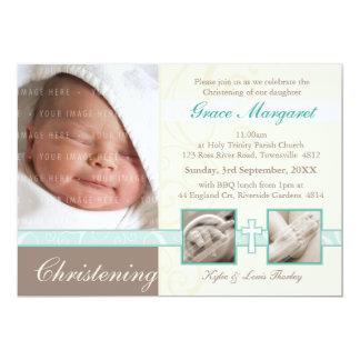 """SPECIAL CHRISTENING INVITES :: precious 1L 5"""" X 7"""" Invitation Card"""