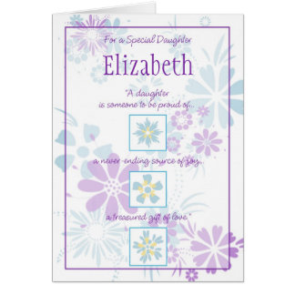 Special Daughter Customizable Card