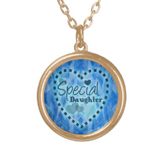 Special daughter gift round pendant necklace