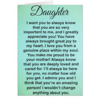 Special Daughter. I Love & Appreciate You! Card