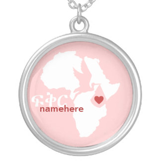 Special Delivery - Amharic Adoption - pink Round Pendant Necklace