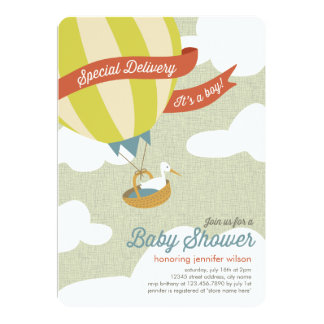 Special Delivery Baby Shower Invite - Boy