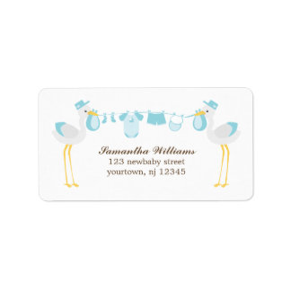 Special Delivery Boy Baby Shower Address Label
