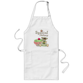 Special Delivery Cupcake Bear BAKERS CATERING PROF Long Apron