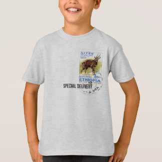 Special Delivery - Ethiopian Bushbuck Stamp T-Shirt