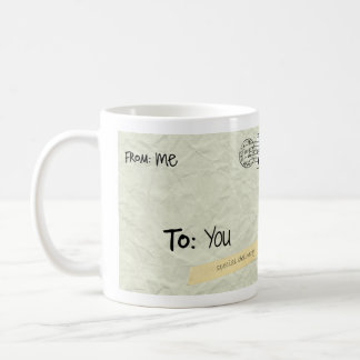 Special Delivery from Me to You; p.s. i love you.. Basic White Mug