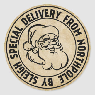Special Delivery from Northpole Stamp Round Sticker