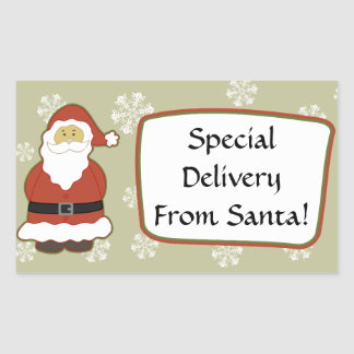 Special Delivery From SANTA Snowflakes Label V7A