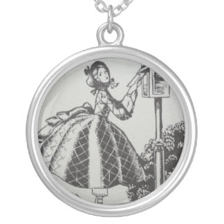 Special Delivery Round Pendant Necklace