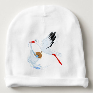 """""""Special Delivery"""" Stork Baby Cap #1 Baby Beanie"""