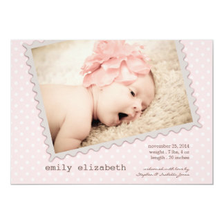 Special Delivery Sweet Baby Girl Photo Birth 13 Cm X 18 Cm Invitation Card
