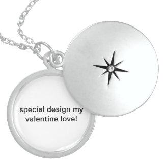 Special design my valentine love! round locket