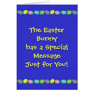Special Easter Message Greeting Cards