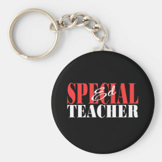 Special Ed Teacher Gift Basic Round Button Key Ring
