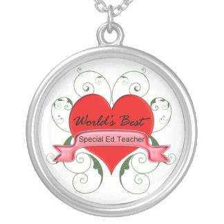 Special Ed. Teacher Round Pendant Necklace