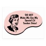 Special Ed Teacher Voice Postcard