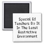 Special Ed Teachers Square Magnet