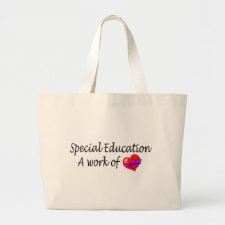 Special Education A Work Of Love Jumbo Tote Bag
