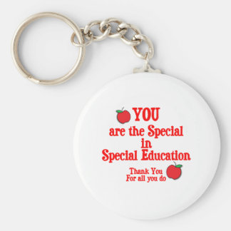 Special Education Appreciation Basic Round Button Key Ring