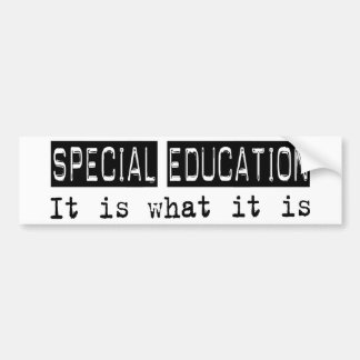 Special Education It Is Bumper Sticker