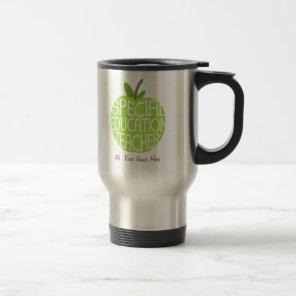Special Education Teacher Green Apple Mug