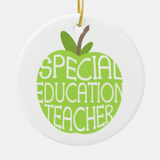 Special Education Teacher Green Apple Ornament