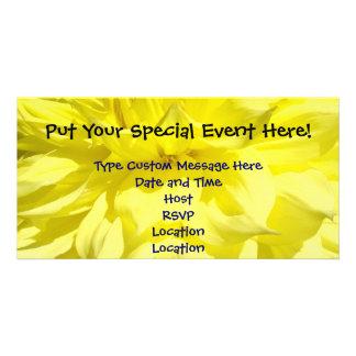 Special Event Announcement Cards Dahlias Custom Photo Card