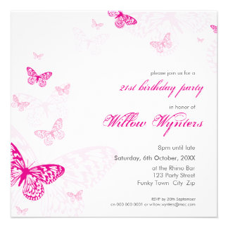 SPECIAL EVENT INVITES butterflies 1SQ