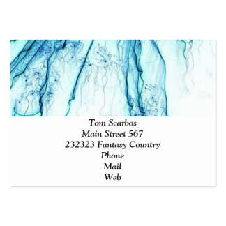 special fireworks, aqua. large business cards (Pack of 100)