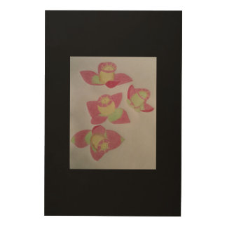 Special flower wood wall decor