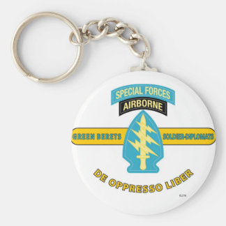 "SPECIAL FORCES AIRBORNE ""DE OPPRESSO LIBER"" KEYCHAINS"