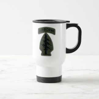 Special forces green berets sf sfg sof nam patch stainless steel travel mug