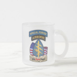 special forces green berets sfg patch frosty Mug
