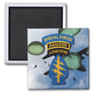 special forces green berets veterans square magnet