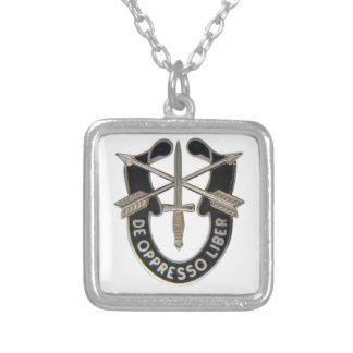 Special Forces Square Pendant Necklace