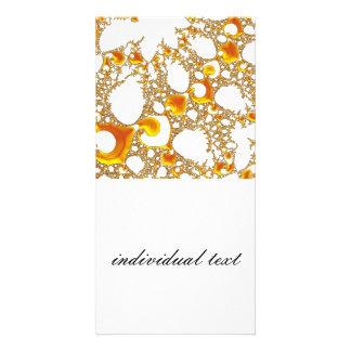 special fractal 04 orange photo card