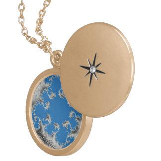 special fractal 15 round locket necklace