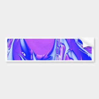 Special Fractal 24 pink Bumper Stickers