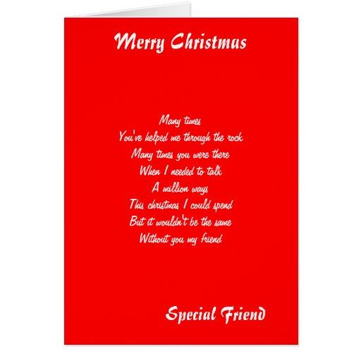 special friend christmas greeting cards