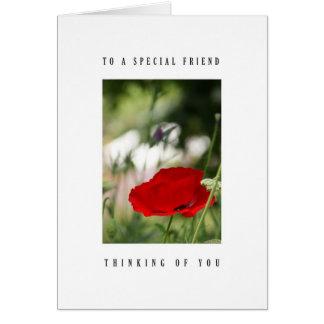 Special friend - Poppy Card