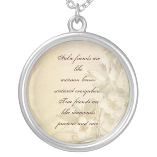 special friend round pendant necklace
