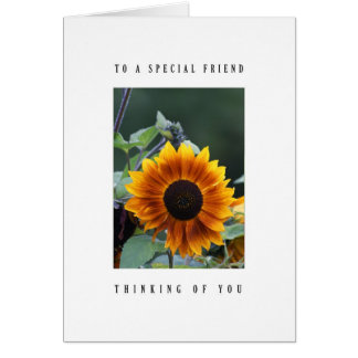 Special friend - sunflower card