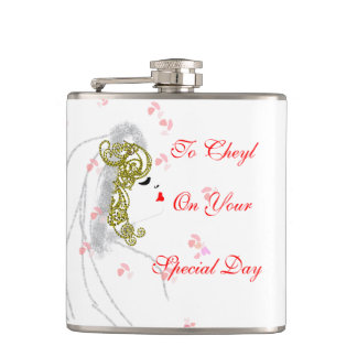 Special Gift For The Bride Personalized Hip Flask