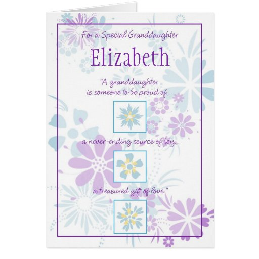 Special Granddaughter Customizable Card