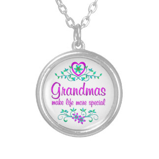 Special Grandma Silver Plated Necklace