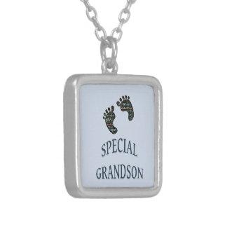 Special Grandson Square Pendant Necklace