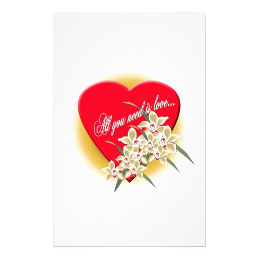 special heart for all the special moments customized stationery