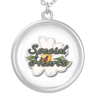 special hearts round pendant necklace